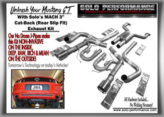 Solo Performance Cat Back Exhaust System 5.0L Ford Mustang GT ( 2011-2014 )