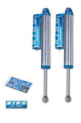 King Shocks 2011+ Chevrolet Silverado 2500/3500 Rear 2.5 Dia Piggyback Reservoir Shock (Pair)