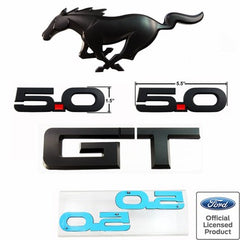 15-18 MUSTANG GT BLACK OUT EMBLEM PACKAGE FORD OFFICIALLY LICENSED