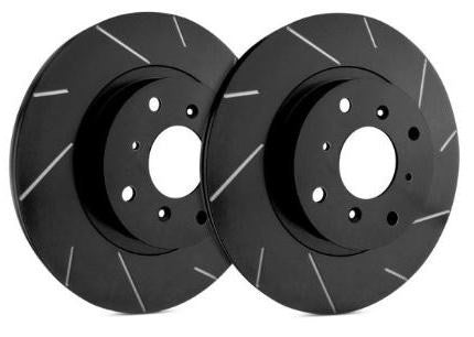 SP Performance Slotted Rotors With Black Zinc Plating (15+ Rear)