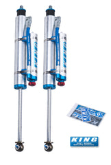 King Shocks 89-97 Toyota Land Cruiser 80 Rear 2.5 Dia Remote Res Shock for 0-2in Lift w/Adj (Pair)