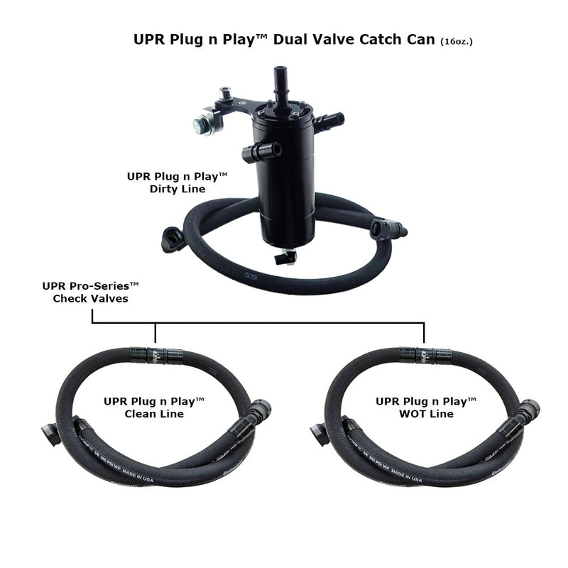UPR 2017 F150 ECOBOOST PLUG N PLAY DUAL VALVE CATCH CAN PRO-SERIES™ CHECK VALVES (17 3.5 Including Raptor)