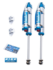 King Shocks 97-06 Jeep Wrangler TJ Rear 2.5 Dia Piggy Hose Res Shock 6in Lift w/Adjuster (Pair)