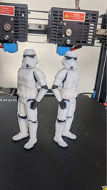 jgmaker idex printed low poly stormtrooper