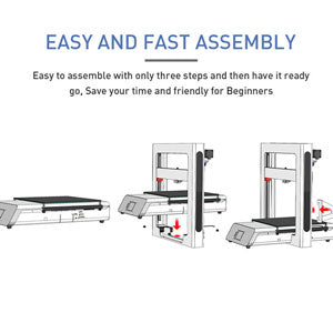 JGMaker A5S : Easy to assemble with only three steps