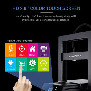 JGMaker A5S : User-friendly colorful touch screen