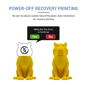 JGMaker A5S: auto-memorized for recovery printing