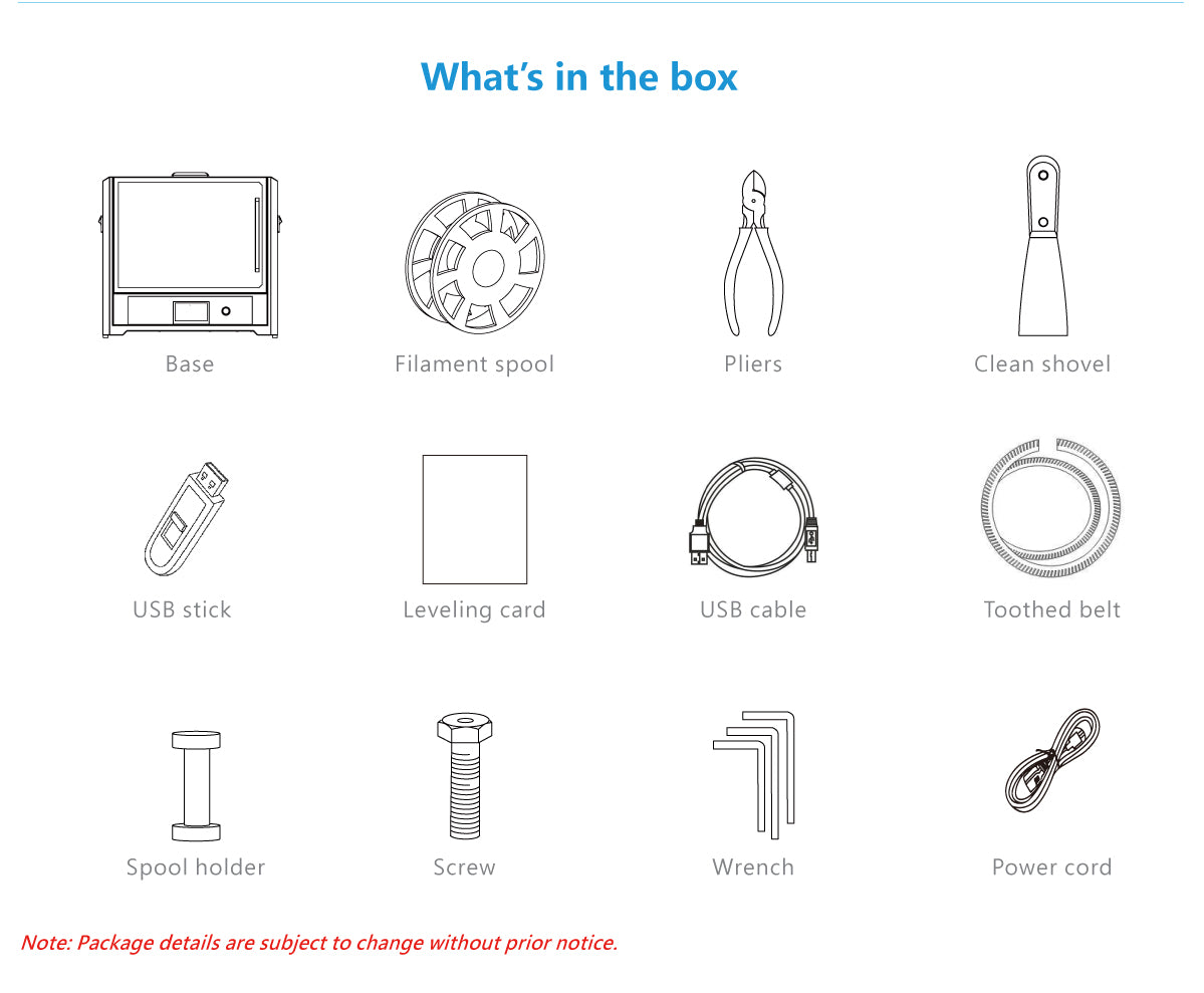 what's in the box of A6