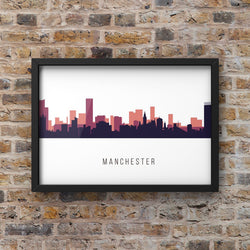 Multicolour #2 Manchester Skyline Landscape Photo Print