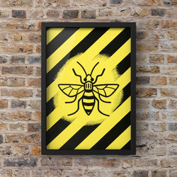 Manchester Bee Yellow & Black collab with @ddouglasart