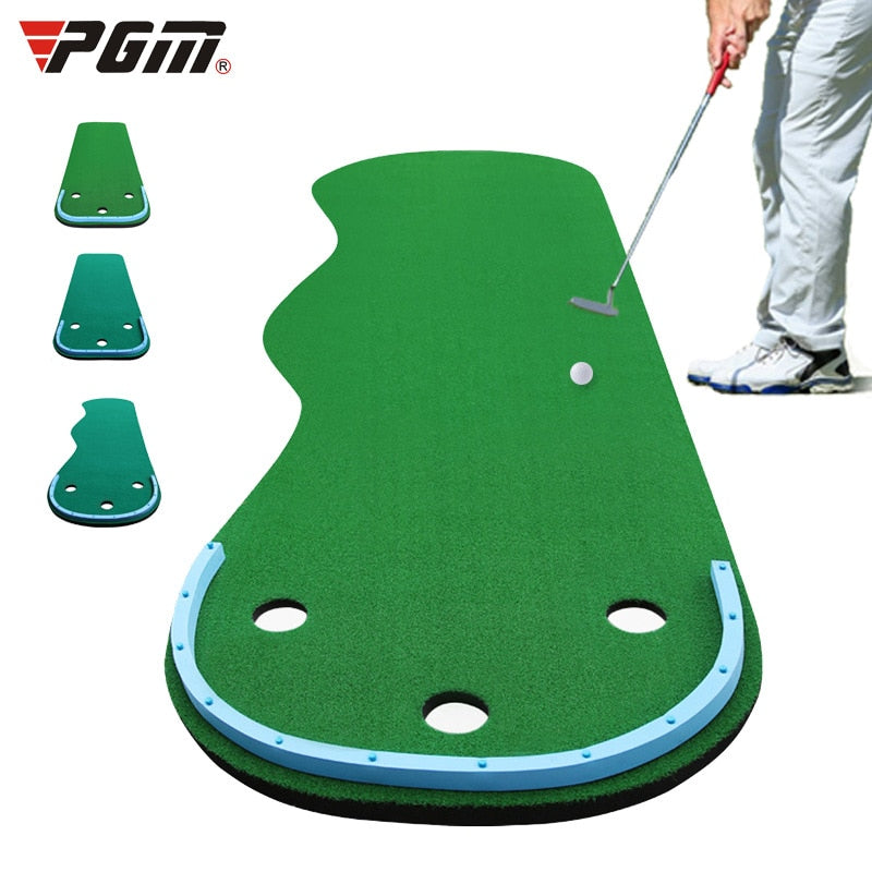 PGM Golf Putter Putting Trainer Indoor Golf Equipment Training Aids Home Office Green Practice Blanket Golf Set D0894