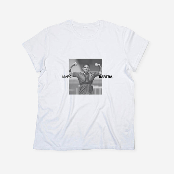 White Long Gol T-shirt Unisex Marc Bartra