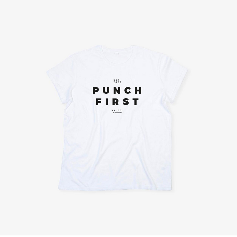 Punch First T-shirt White Unisex