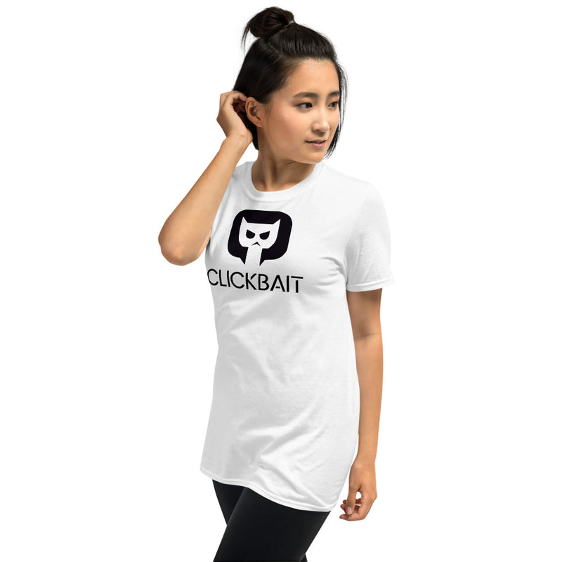 Unisex short sleeve t-shirt Clickbait by Tobbalink Int
