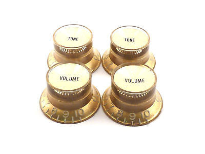 Gibson Style Top Hat Knobs (Gold With Gold Insert)