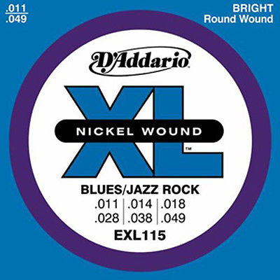 D'Addario EXL115 Blues/Jazz Rock Electric Guitar Strings