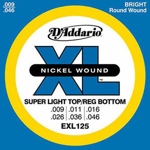 D'Addario EXL125 Super Light Top/Reg Bottom