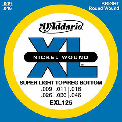 D'Addario EXL125 Super Light Top/Reg Bottom Electric Guitar Strings