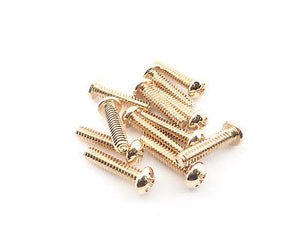 Fender Pickup/Switch Screws 15mm (Gold)