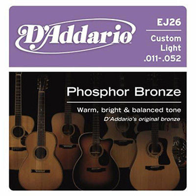 D'Addario EJ26 Phosphor Custom Light