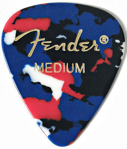 Fender 351 Classic Celluloid Medium Picks (Confetti)