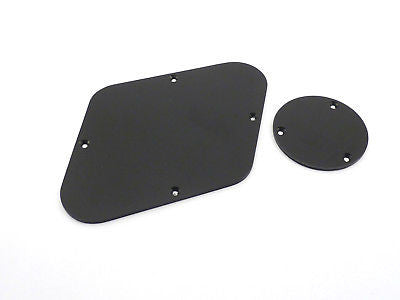 Stentor Les Paul Type Rear Access Backplates Black