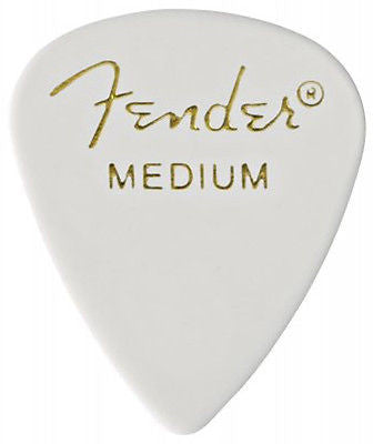 Fender 351 Classic Celluloid Medium Picks (White)