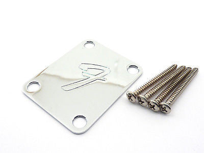 Fender Guitar 'F' Neck Plate Chrome