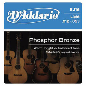 D'Addario EJ16 Phosphor Bronze Light Gauge Acoustic Guitar Strings