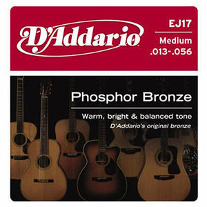 D'Addario EJ17 Phosphor Bronze Medium Gauge
