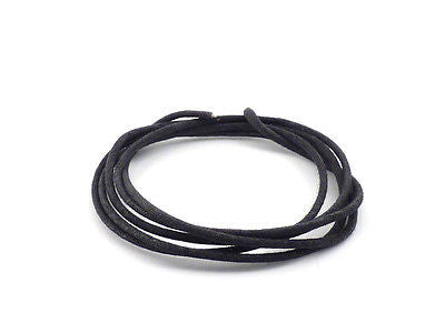 Black Cloth Covered Wire 18 Gauge Stranded Core (1m)