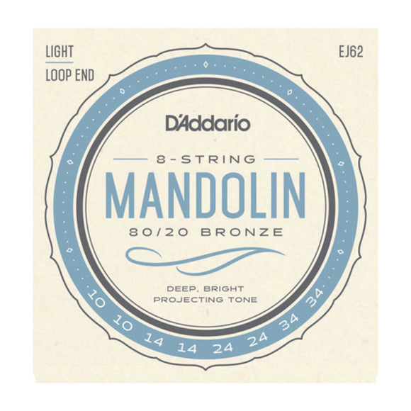 D'Addario EJ62 Mandolin Strings Loop End