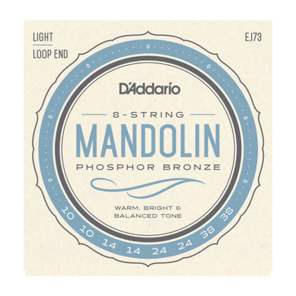 D'Addario EJ73 Mandolin Strings Loop End