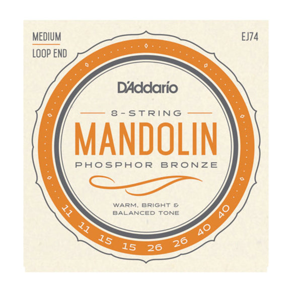 D'Addario EJ74 Mandolin Strings Loop End