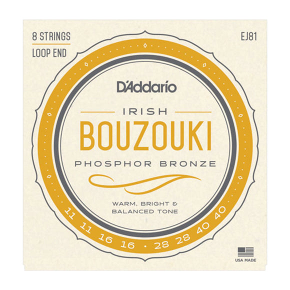 D'Addario EJ81 Irish Bouzouki Strings Loop End