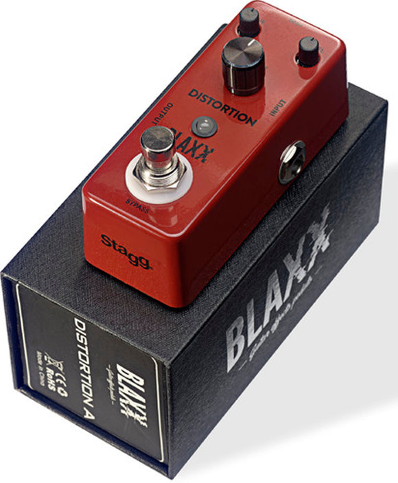 Stagg Blaxx Distortion Compact Guitar Pedal