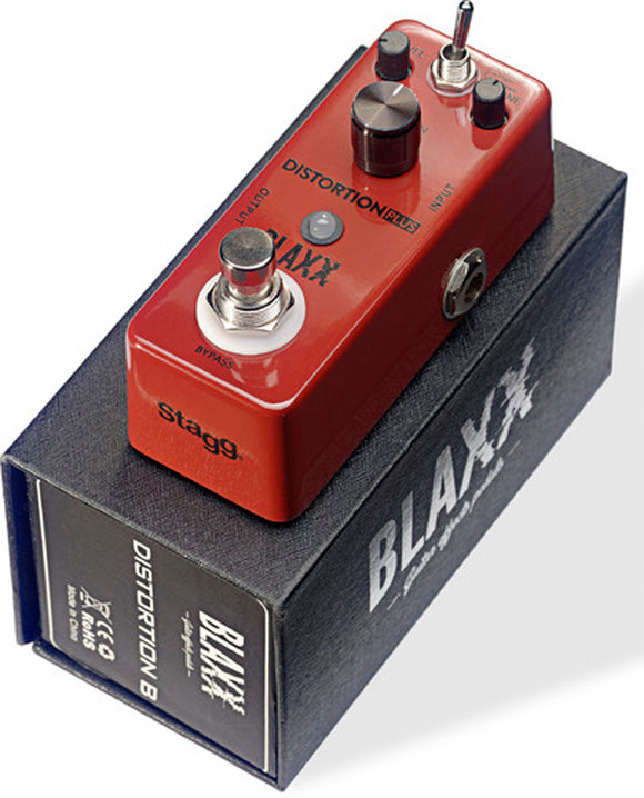 Stagg Blaxx Distortion Plus Compact Guitar Pedal
