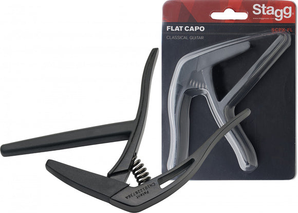 Stagg Flat Trigger Capo Classical Guitar - Black