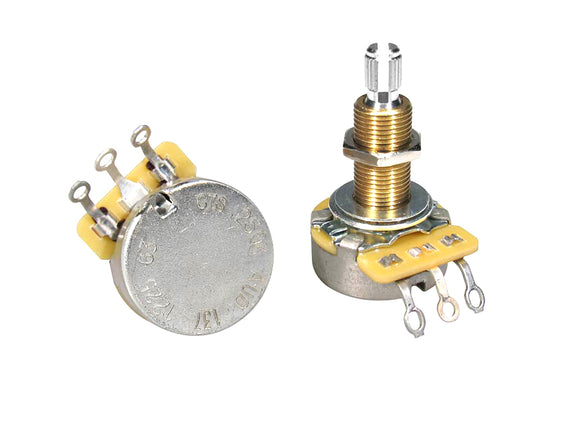CTS Potentiometer 250K Audio Split Shaft Long Bushing CTS250-A63
