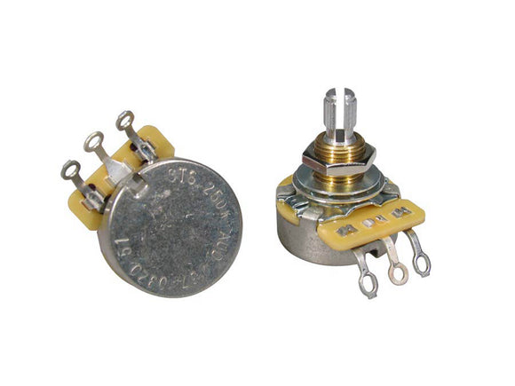 CTS Potentiometer 250K Audio Split Shaft Standard Bushing CTS250-A51