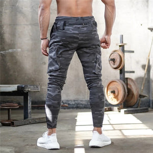 Mens Jogger Sweatpants Man Gyms Workout Fitness Cotton Trousers Male Casual Fashion Skinny Track Pants Zipper design Pants