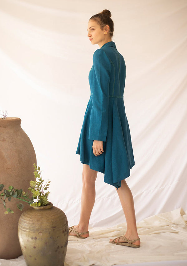 DEEP Blazer-Dress - Turquoise