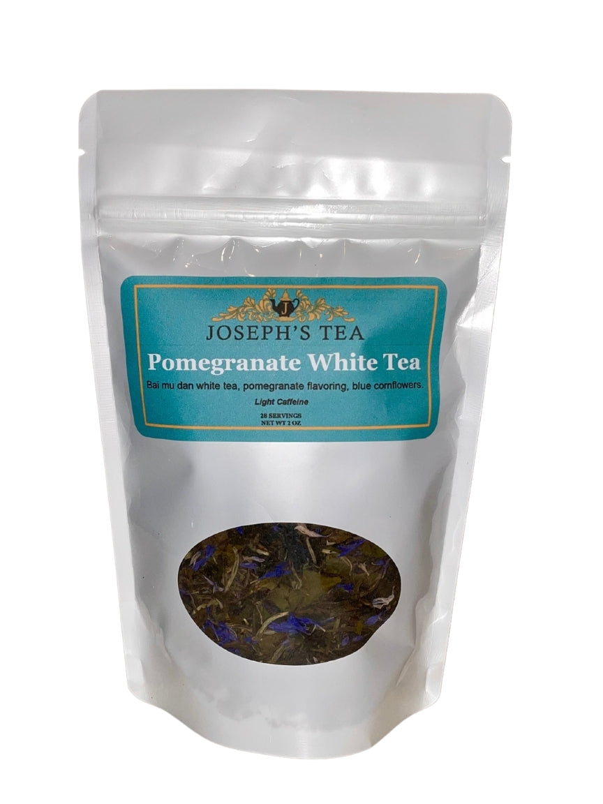 Pomegranate White Tea (Light Caffeine)