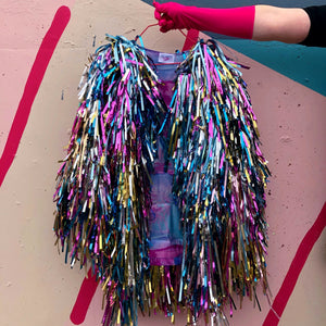 Pastel Shag Tinsel Jacket