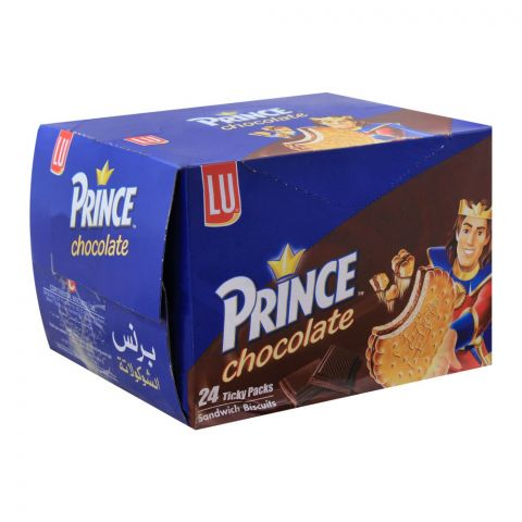 LU Prince Chocolate Sandwich Biscuits, 24 Ticky Packs