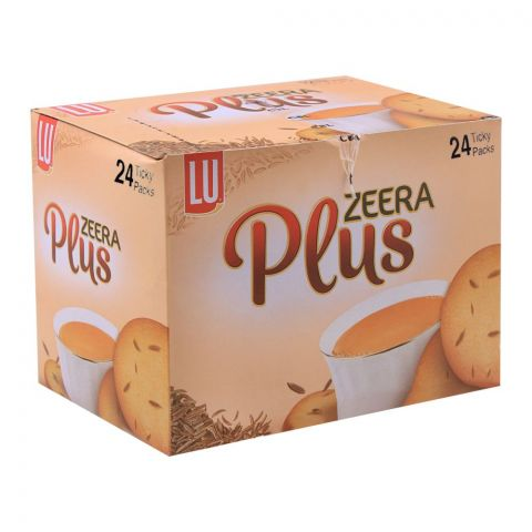 LU Zeera Plus Biscuits, 24 Ticky Packs