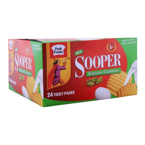Peek Freans Sooper Elaichi Biscuit, 24 Ticky Packs