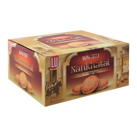 LU Bakeri Nankhatai Biscuits, 6 Snack Packs