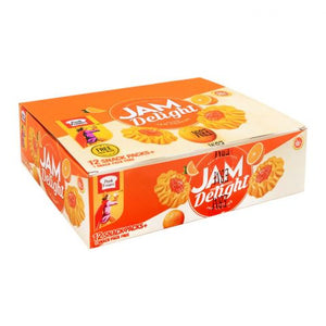 Peek Freans Jam Delight, Orange, 12 Snack Pack