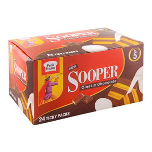 Peek Freans Sooper Classic Chocolate Biscuits, 24 Tikky Packs
